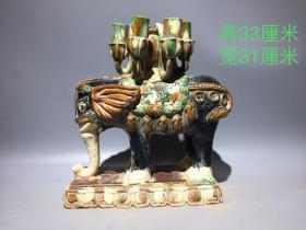 唐代三彩摆件一件,做工精致,釉色漂亮,开片自然,尺寸如图。
