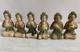 收到陶人一组,陶器、唐三彩