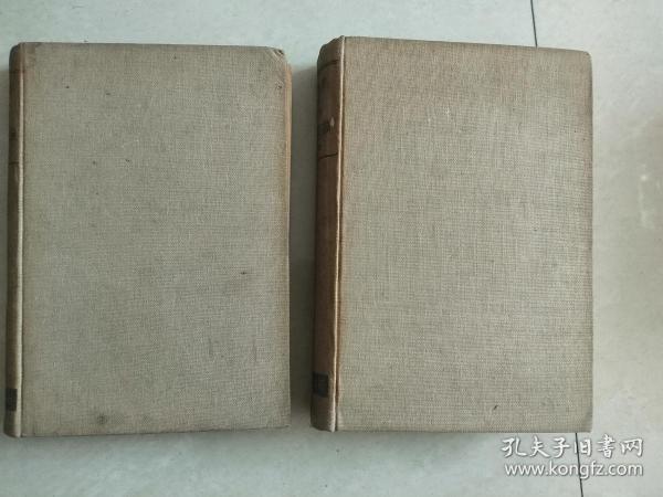 末松直次著《应用植物学各论》上下卷两册精装本,日文版