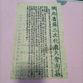 红色文献:陕北省苏二次代表大会开幕