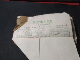 1988年会计发票总账单(含各种发票)