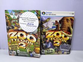 (PC CD)ZOO TYCOON2 【两盒和售 2张光盘 如图】
