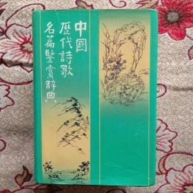 中国历代诗歌名篇鉴赏辞典(以图为准)