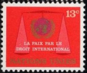联合国邮票E:1969年法律委员会,天平, 新