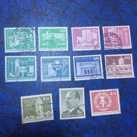 东德信销邮票13枚                                             (50、60年代邮票 无重复 !90年东、西德已经统一所以非常值得收藏) 店铺福利优惠邮票 邮票类多购付一次运费即可,付款前私信后台改价