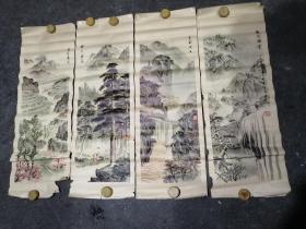 青海风光 年画 4张一套