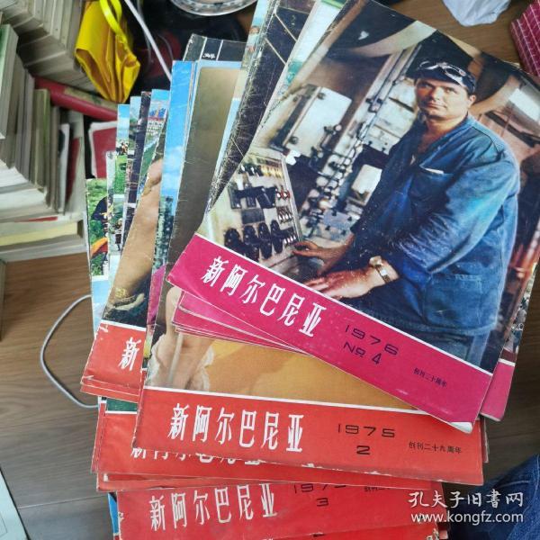 文革时期的8开大画报中文双月刊《新阿尔巴尼亚》1973~1974~1975~1976年全   附赠1975年增刊25本合售