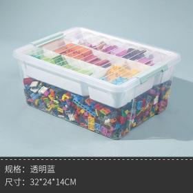 乐高收纳箱装玩具积木零件的收纳盒筐小颗粒分类透明整理盒子神器