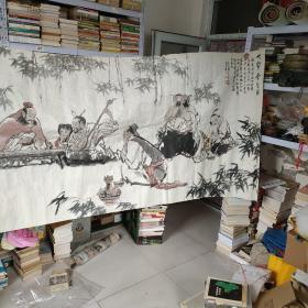 天津美术家协会副主席李俊琪人物画126✘360cm