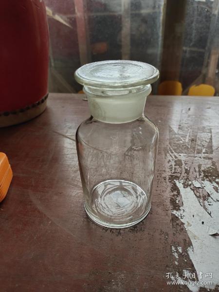 70-80年代带盖玻璃药酒瓶子2