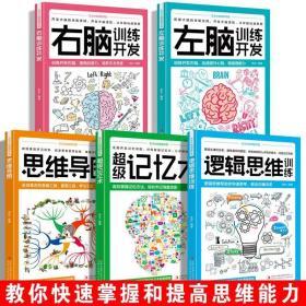 5册思维导图超级记忆术最强大脑思维风暴思维导图教程逻辑思维书