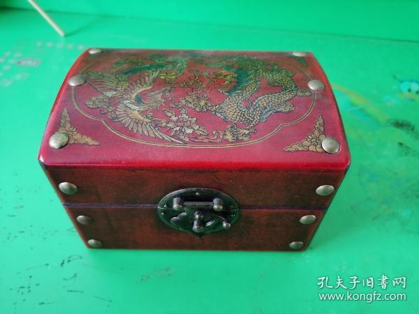 精美龙凤图案梳妆盒
