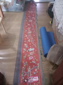 超长7.2米,清代群仙刺绣横幅。福禄寿三星与八仙共十一个神仙人物,古徽州府大型公共活动用