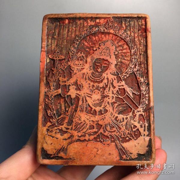 旧藏精品寿山石细线佛像印章 尺寸:90mm70mm40mm  重量:679克