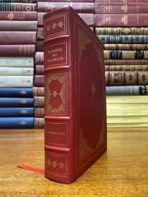 Eleanor and Franklin by Joseph P . Lash  1972年Pulitzer Prize 真皮精装  限量版 ,书口三面刷金