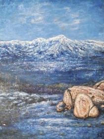 高泉海景油画