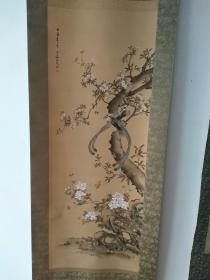 著名女画家 野口小蘋笔花鸟图精品(40.5*108厘米)1892年作