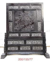 檀木大座屏,雕工精细,保存完好品相一流
