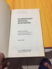 elementary medical statistics 基础医学统计学
