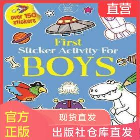 英文原版童书First Sticker Activity For Boys贴纸活动书