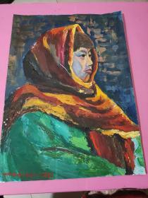 油画大师李钢油画一副1997年作品