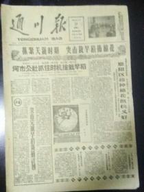 生日报通川报1961年4月18日(8开四版) 我荣获男子团体和男女单打世界冠军; 河市公社抓住时机抢栽早稻;