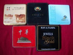 老空铁烟盒5个(3)(供收藏)一起转让