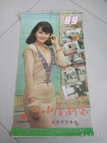 89年挂历 小屋新装(13张全)电视评选集锦