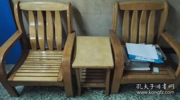 速自提:实木沙发、茶几一套三件