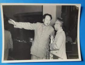 老照片五十年代毛泽东与马叔伦
