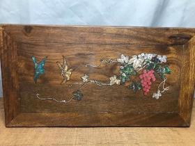 花梨木镶嵌小桌