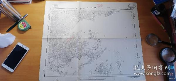 抗战时期地图 广东宝安附近 盐田洞