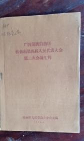广西壮族自治区桂林市第四届人民代表大会第二次会议汇刊 62年版 包邮挂刷