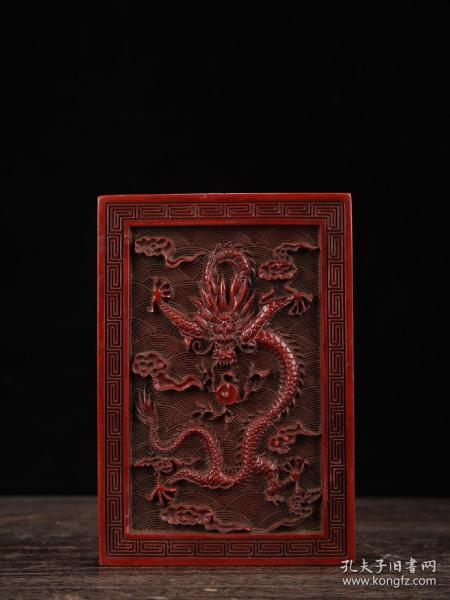 漆器剔红龙纹盒