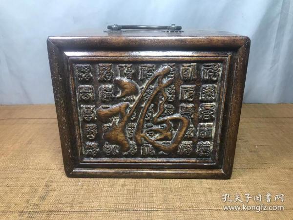 花梨木雕工首饰盒