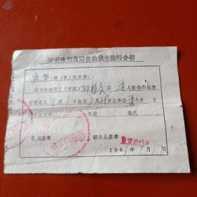 1965年忻定县粮食局食油供应临时介绍