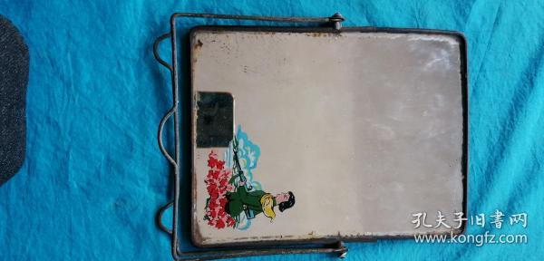 北京七一制镜厂民兵图案玻璃镜