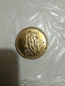 1997年沈阳造币厂牛年纪念币章