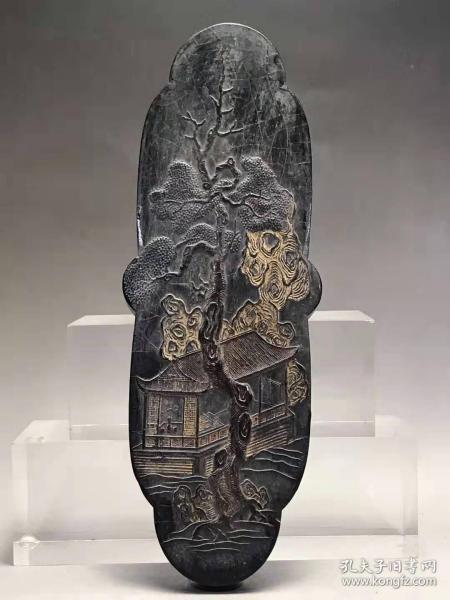 正宗徽州老墨古柯庭长27厘米