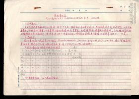 1965年昆明农林学院《花生青枯病》手稿6页