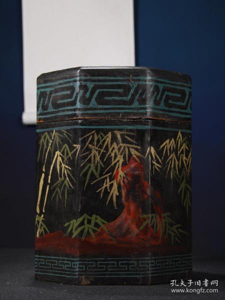 漆器木胎茶叶筒