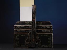 木胎描金漆器食盒