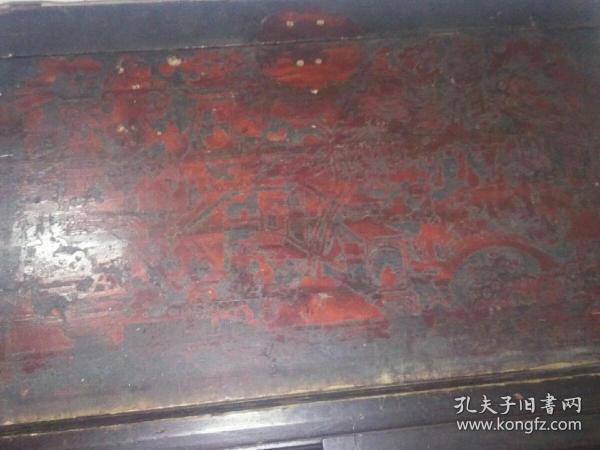 家传带漆画的书画箱有典故,材质名贵/上盖有伤