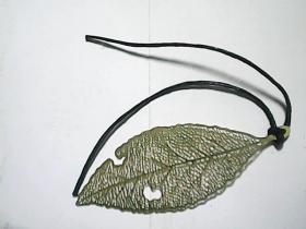 书签  260——铜质树叶
