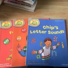 handbook   phonics level 1 chip's letter sounds biffs fun phonics floppy's fun phonics 3本合售 干净无涂画