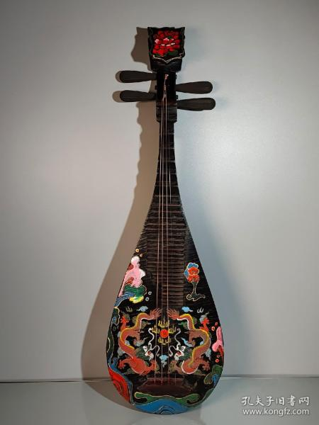 珍藏漆器手工彩绘描金琵琶