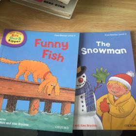 handbook   funny fish  the snowman first stories level 2  两本合售