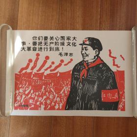 你们要关心国家大事,要把无产阶级文化大革命进行到底!