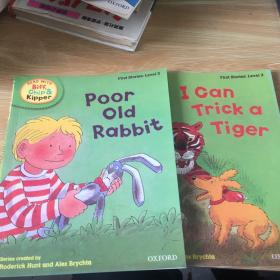 handbook    first stories level 2  poor old rabbit I can trick a tiger 两本合售