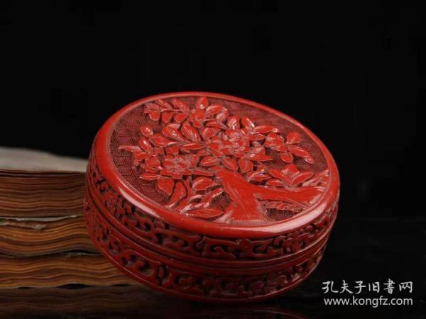 剔红漆器首饰盒